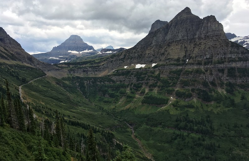 Can see Logan Pass come into view