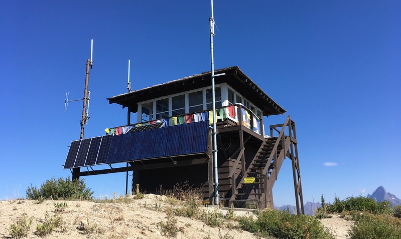 Manned ranger station at the top of the mountain