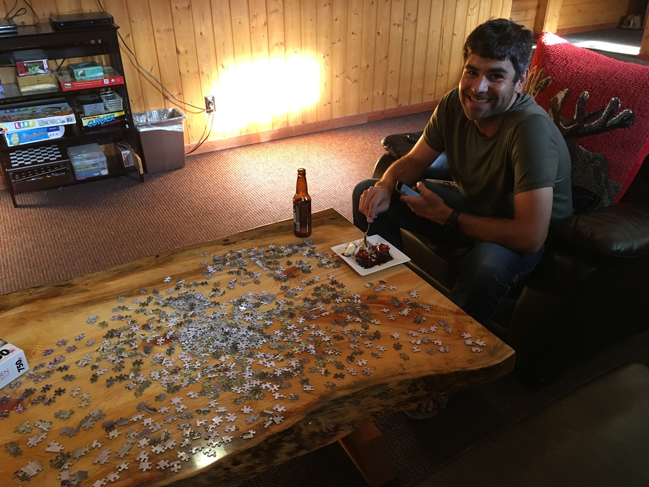 Beer, Desert, Puzzle. We know how to party!