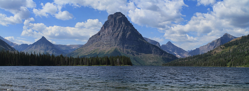 On the shore of Upper Two Medicine Lake