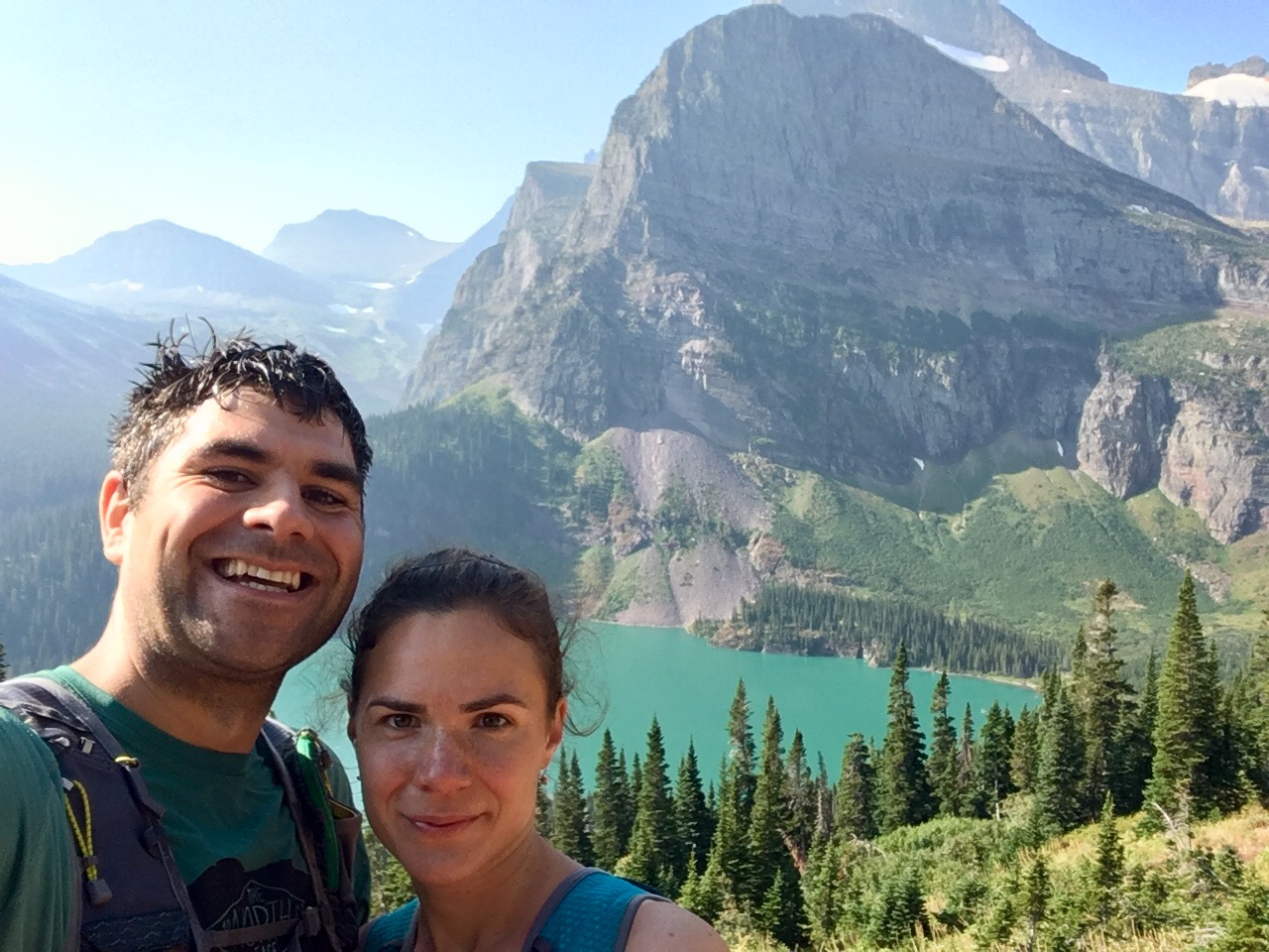 Grinnell Lake, with Yuliya and Graham