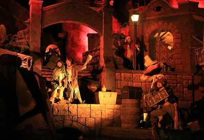 Inside the Pirates of the Carribean ride