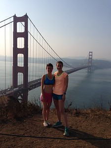 Taking Nina out for a jog around SF :)