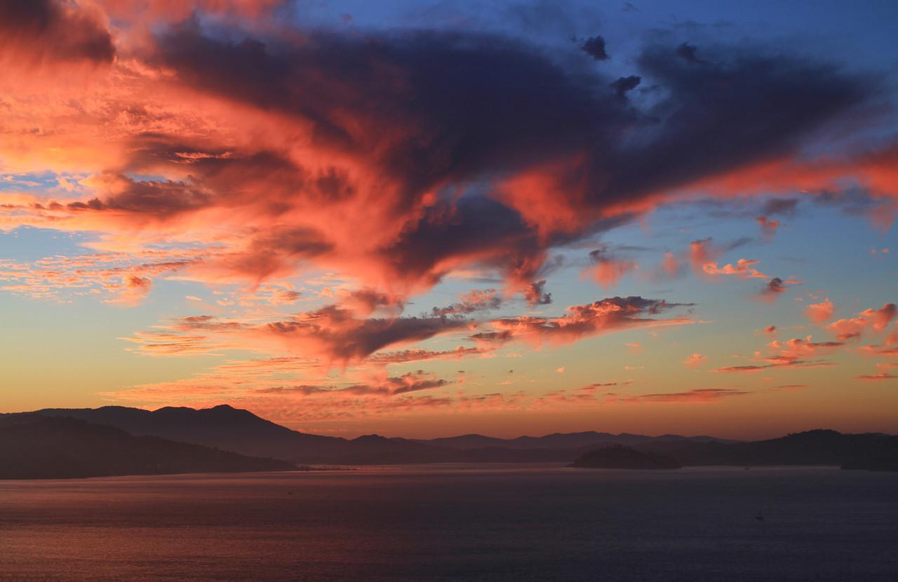 Sunset over Marin