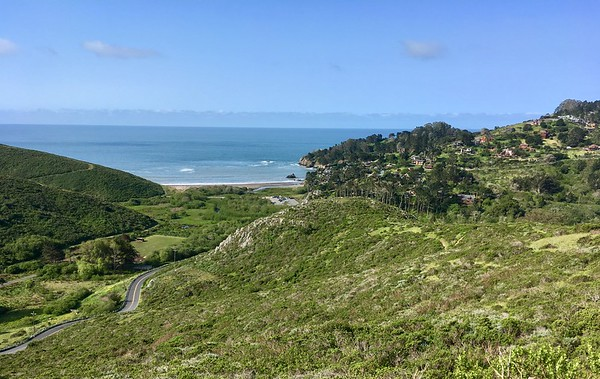 Muir Beach from Dias Ridge trail