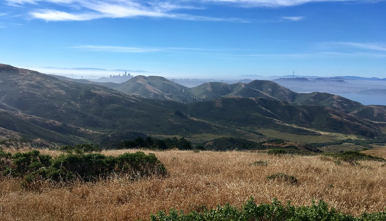 San Francisco hiding behind the hills of Marin