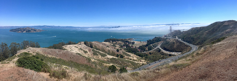 San Francisco is being blanketed by the fog...