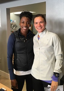 With Alysia Montaño, US 800m Olympic runner