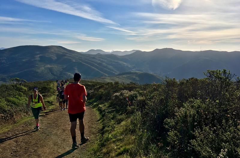 Graham running the North Face half marathon