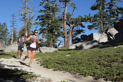 Flying down Tahoe Rim Trail