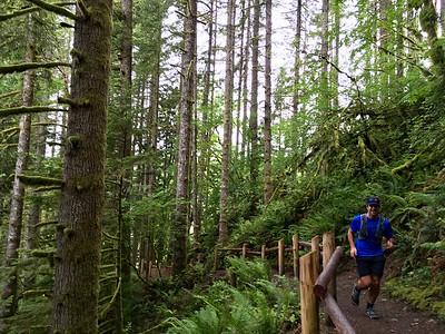 Graham seems to be enjoying trail running