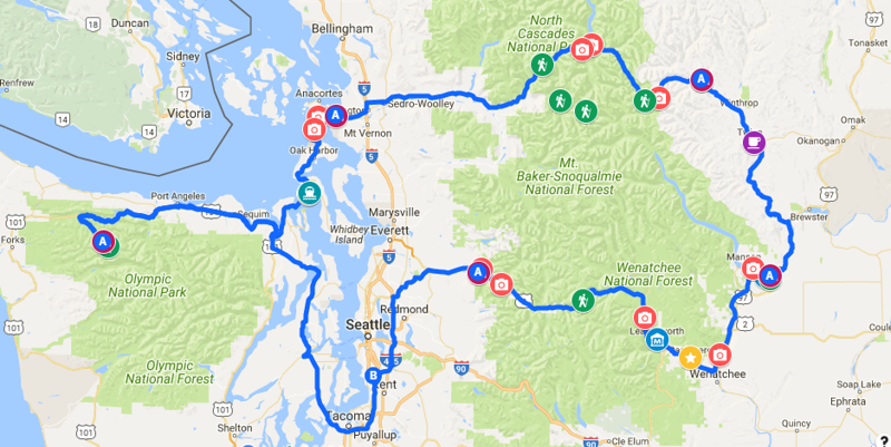~700 miles around Washington state over 5 days :)