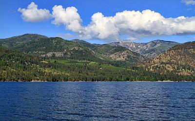 Lovely lake hillsides