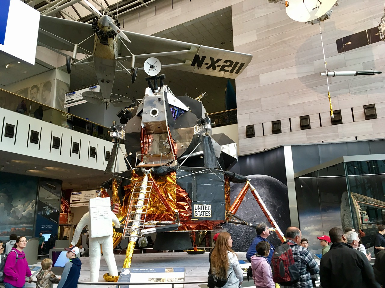 At the Smithsonian National Air and Space Museum