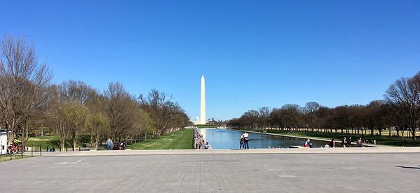 After the flight: jogging around the Mall to prevent jet lag