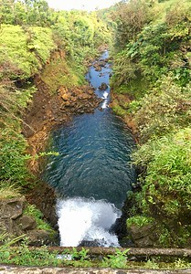 Waterfall under a Bridge near Hana