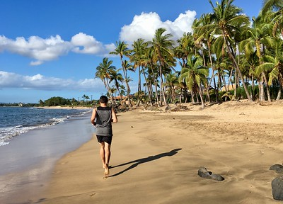 Beach Running at Maalaea Bay