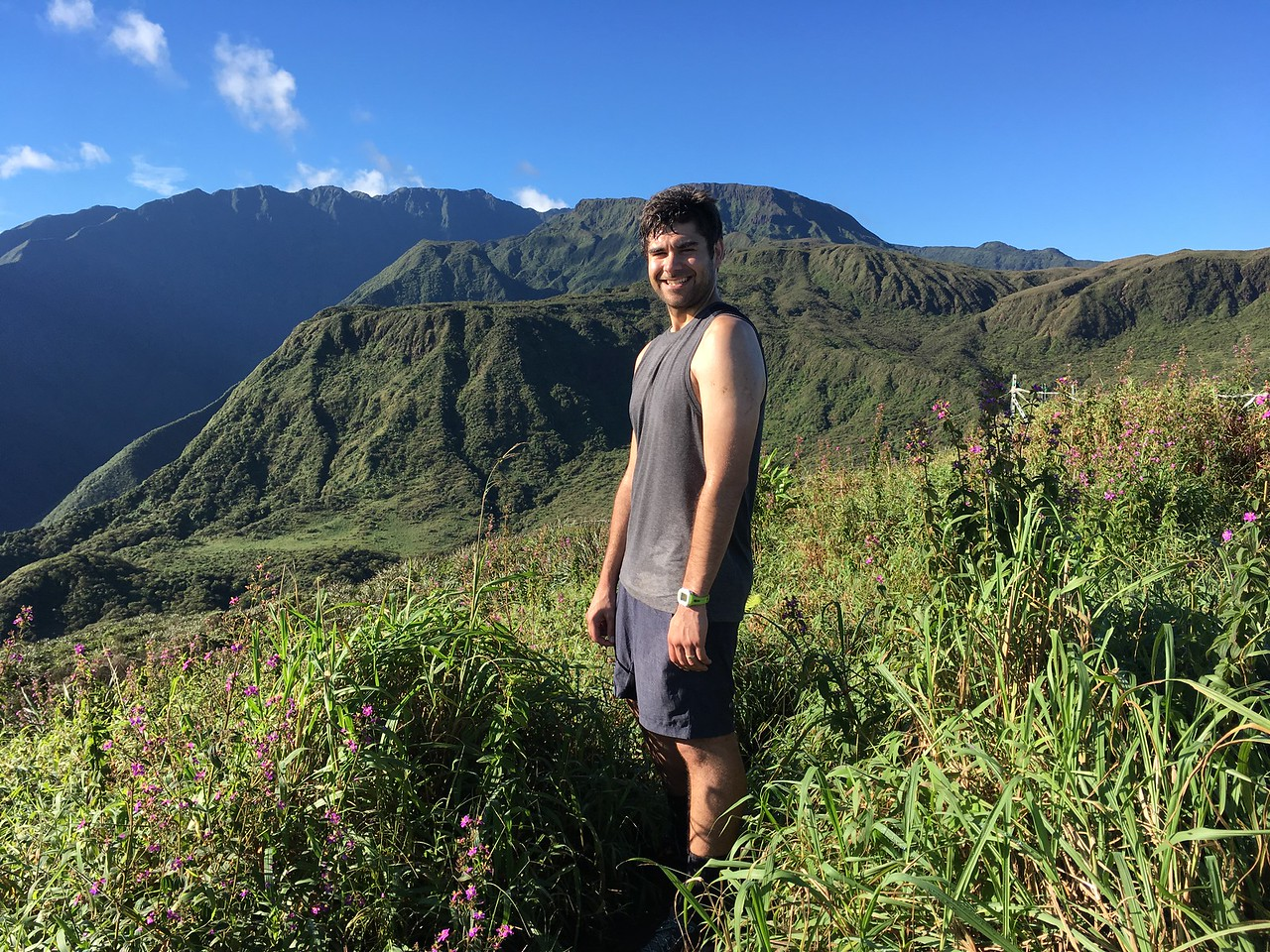 Waihee Ridge Trail run was muddy and steep at first, but worth the views