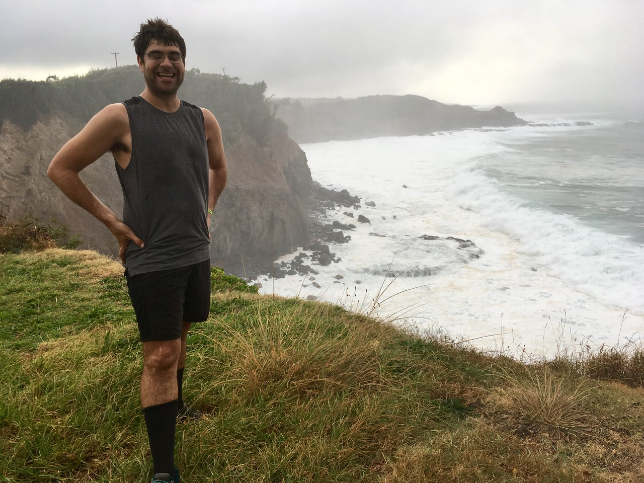 Run to Kauiha Gulch in the rain and mud