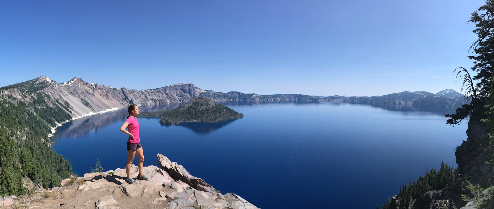 The lake's maximum depth has been measured at 594 m