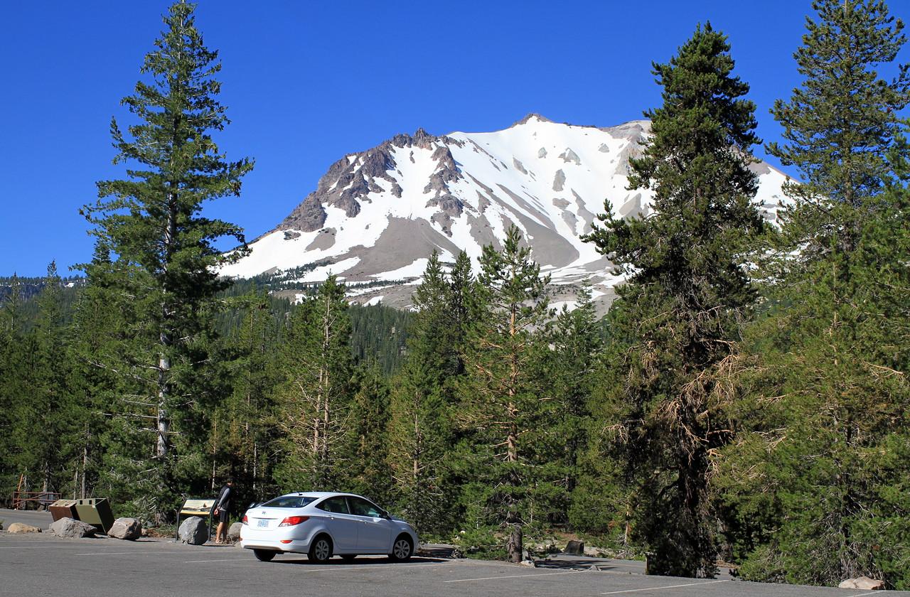 Graham researching about Lassen Peak
