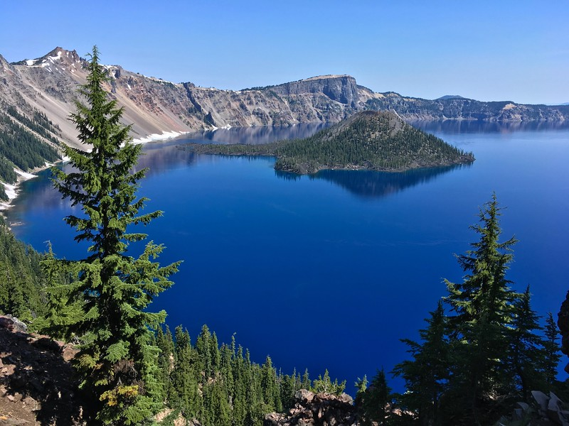 Crater Lake was formed 7,700 years ago, when a violent eruption triggered the collapse of Mt Mazama