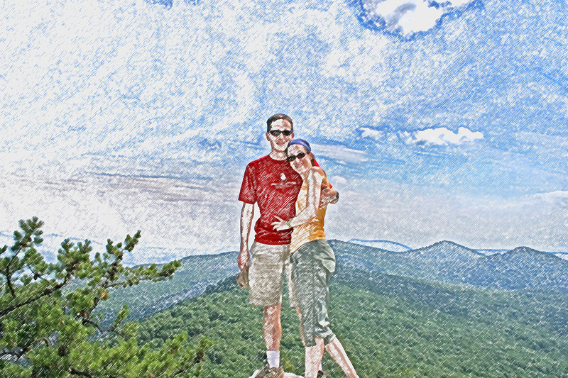 Photoshop - turning a photo into a colored pencil sketch