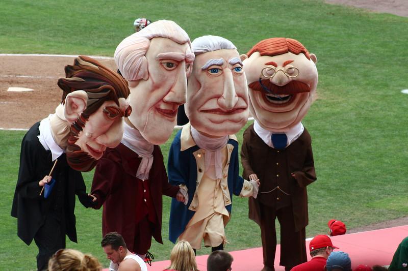 The president bobble heads