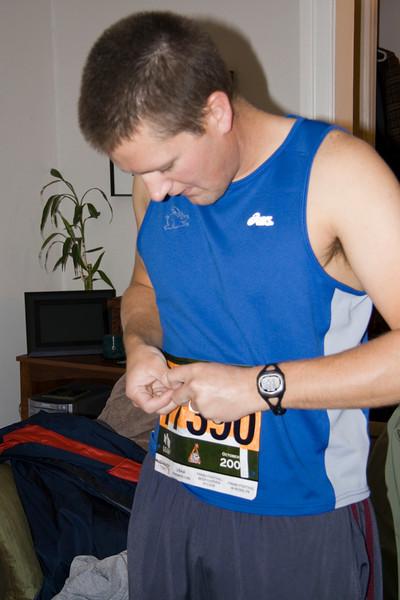 Bob getting ready