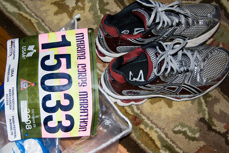 The shoes that will take Paul 26.2 miles!