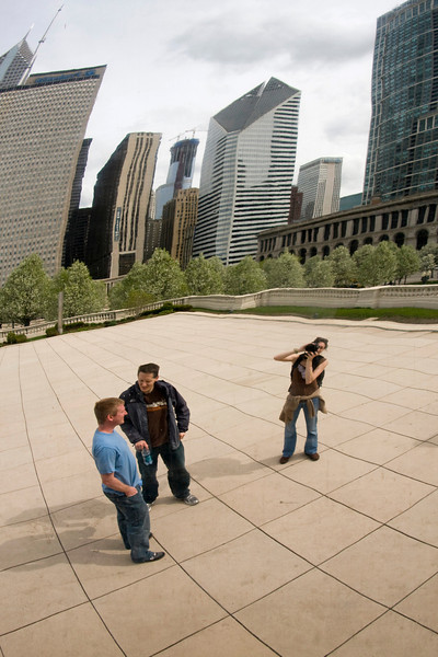 Picture of us reflected in the bean