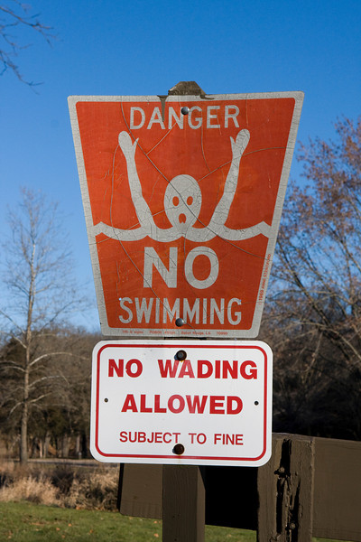 "This exact same sign is also in Jordan at the Dead Sea, although there it says ""Caution, Extremely Salty"""
