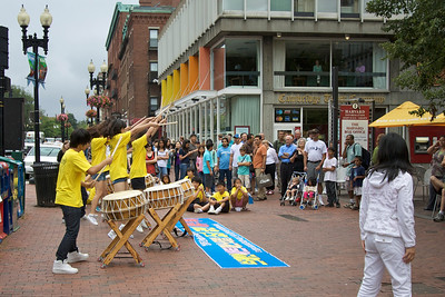 Performers at Harvard Square
