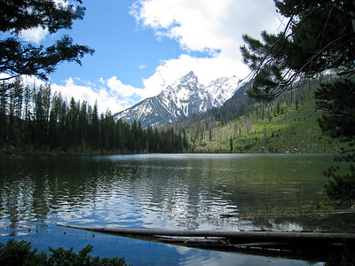 String Lake, and the starting point for our hike to Leigh Lake