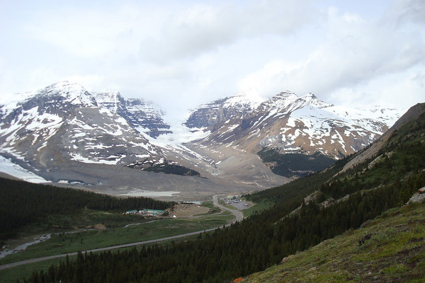 Vue sur Icefield center