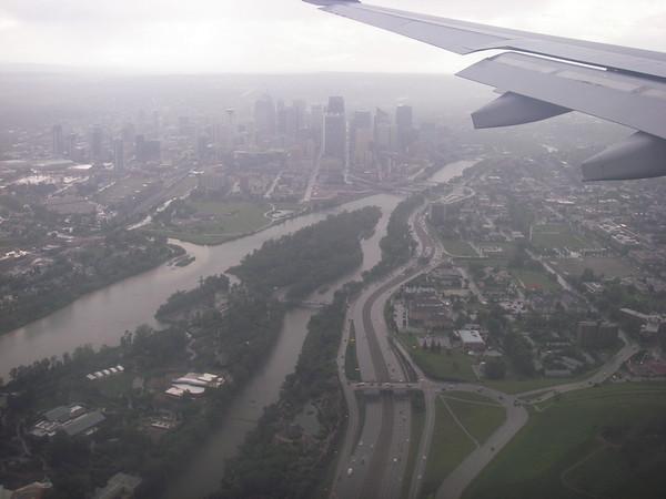 Atterrissage à l'est de Calgary