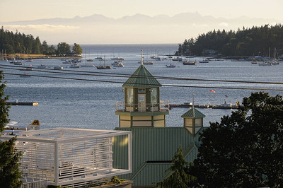 vue du port de Nanaimo au soleil levant