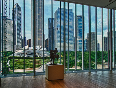 The Art Institute of Chicago: view of Millennium Park