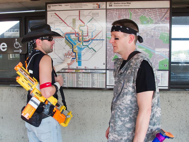 Zombie Hunters always ride the metro