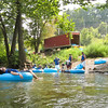 Putting the tubes in the Shenandoah River