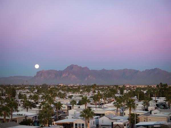 Moonrise over Mesa