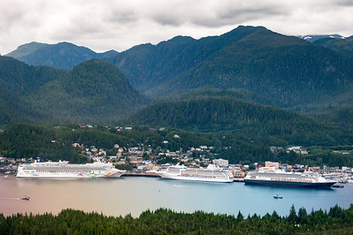 Ketchikan Harbor from the Airplane