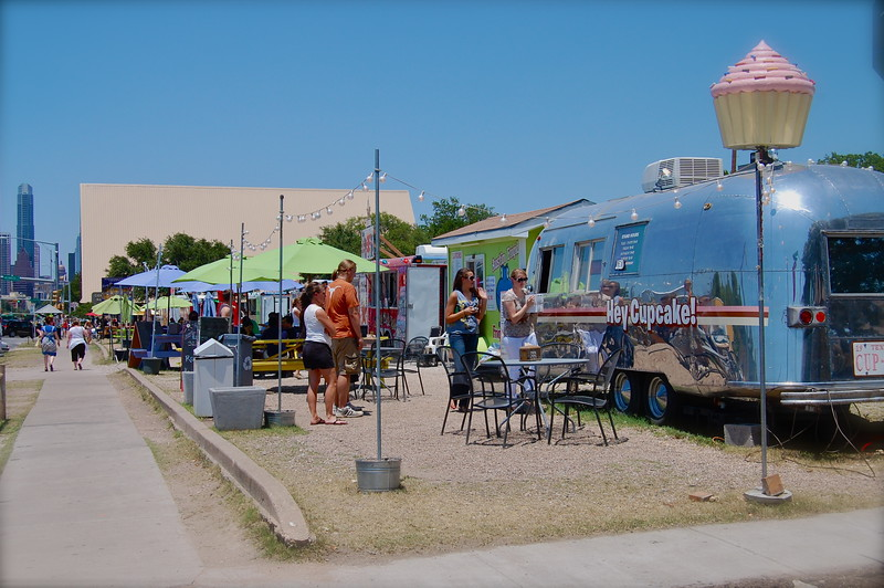 Food truck gathering on South Congress