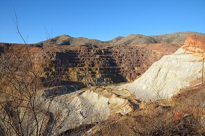 A la sortie de Bisbee, il y a une ancienne mine de cuivre, Laventin, qui n'a été exploitée que 12ans, de1917 à 1929