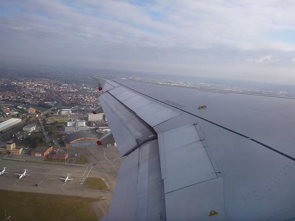 Jeudi 26 janvier On décolle à 11h et on passe au dessus de la Garonne et du Stadium