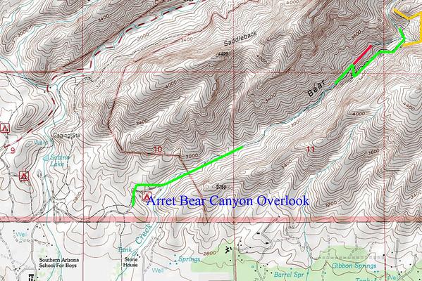 le retour aprés Bear Canyon overlook en bee line direct au visitor center