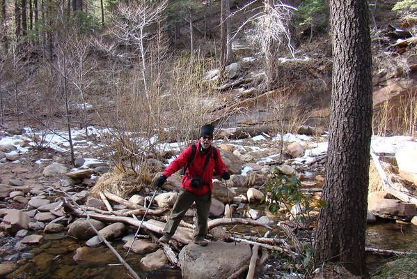 Si on va au bout de la rando, il faudra traverser 13 fois le creek.  Premier passage