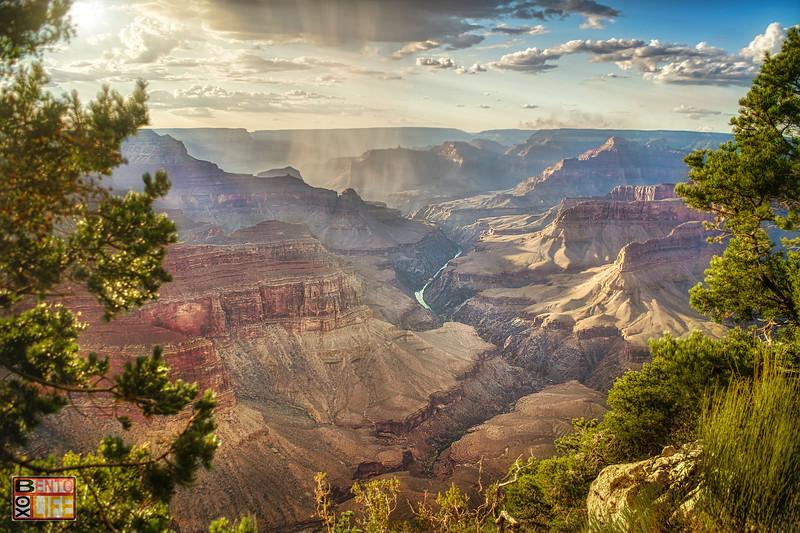 Grand Canyon Rain Shower at Sunset