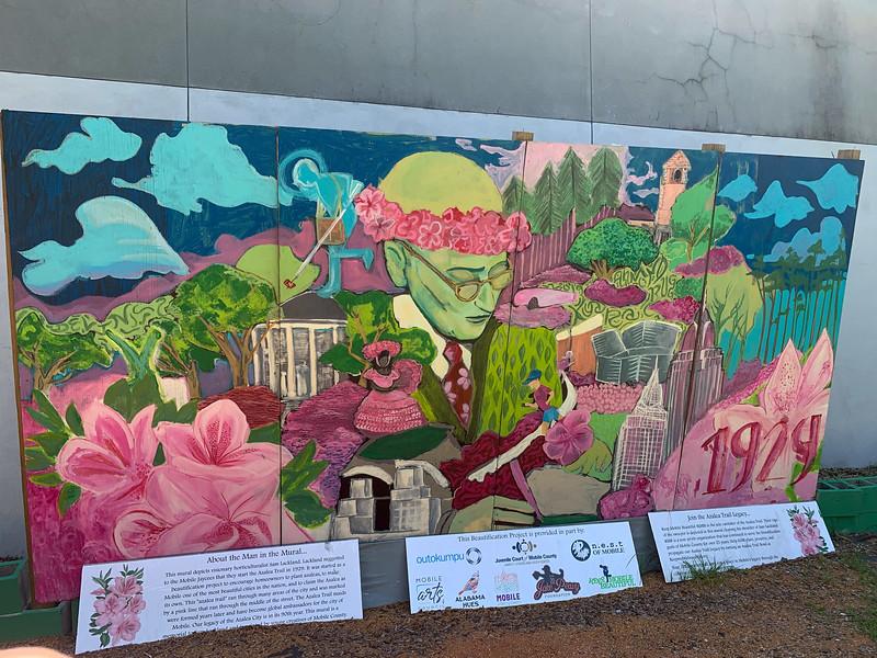 azalea trail mobile mural