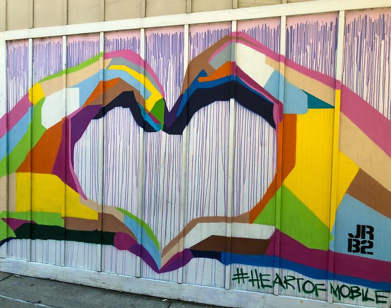 heart of mobile street art